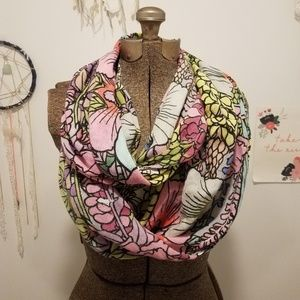 Anthropologie floral scarf